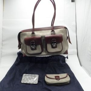 Dooney & Bourke Beige Signature Satchel Bag